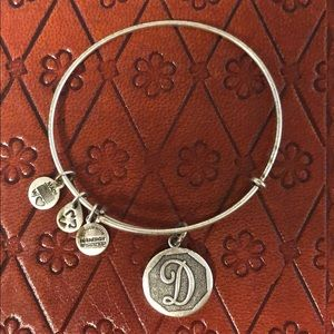 "Alex and Ani [+]Energy ""D"" charm bangle bracelet"
